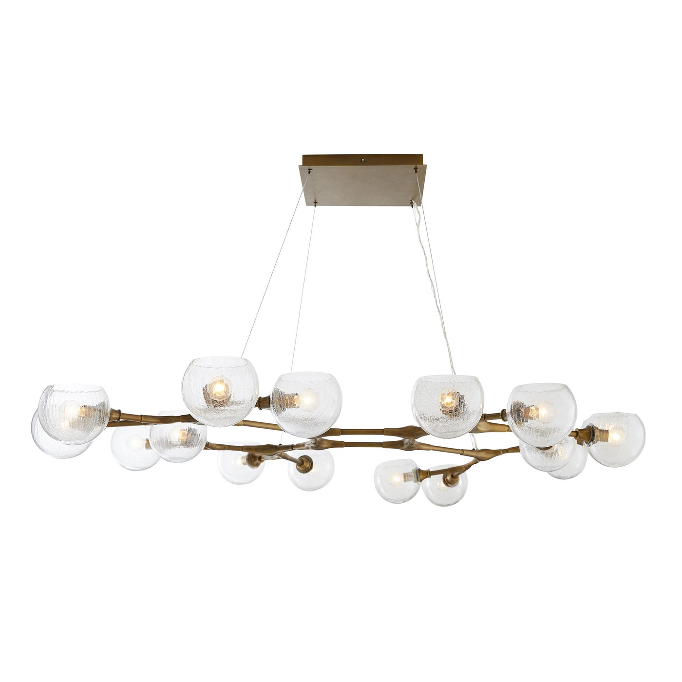 arteriors home mahowald fixed chandelier antique brass side