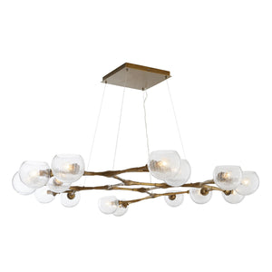 arteriors home mahowald fixed chandelier antique brass illuminated