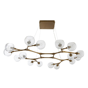 arteriors home mahowald fixed chandelier antique brass bottom