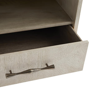 arteriors home mallory side table drawer