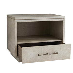 arteriors home mallory side table open drawer