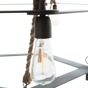 Arteriors Home McIntyre Two Tiered Chandelier Iron Rope