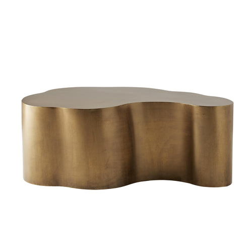 arteriors home meadow cocktail table brass