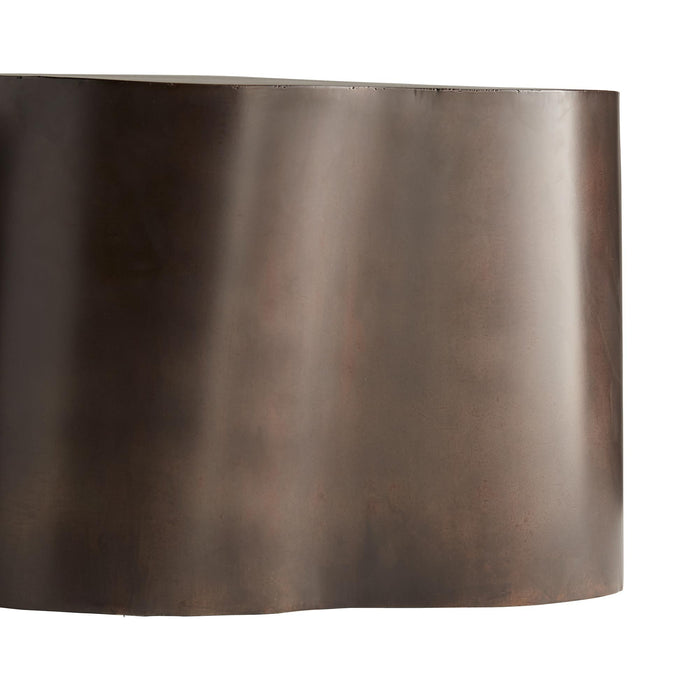 arteriors home meadow cocktail table bronze bottom