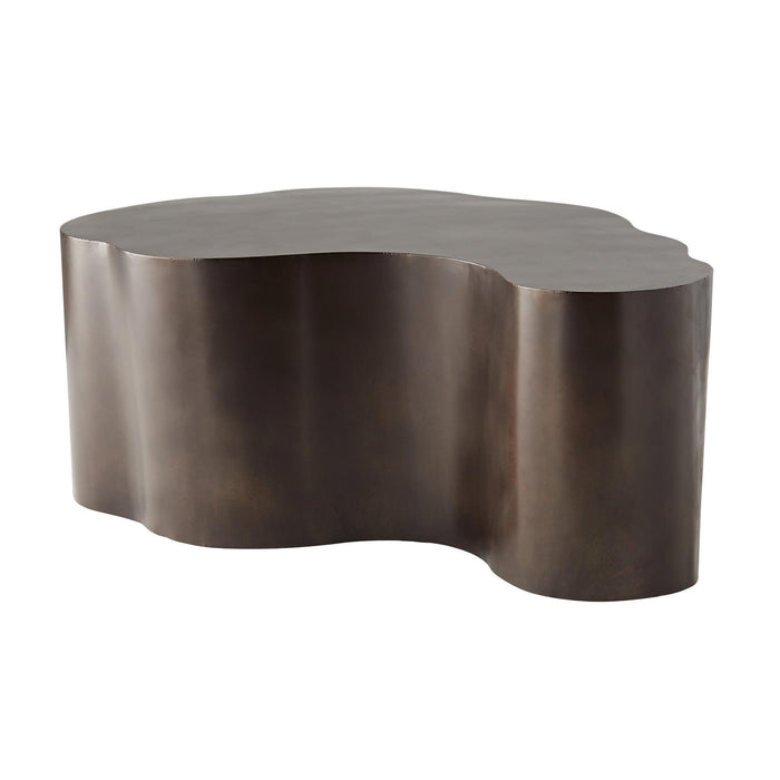 arteriors home meadow cocktail table bronze side