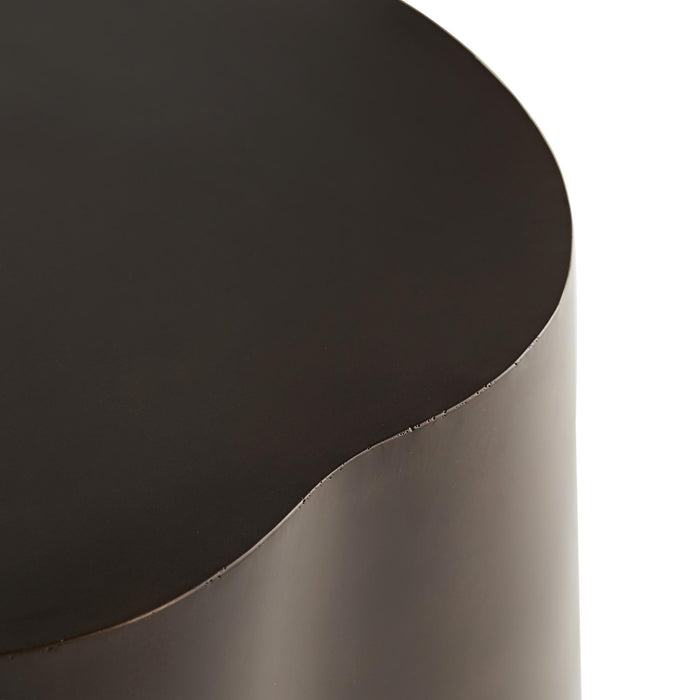 arteriors home meadow cocktail table bronze trim