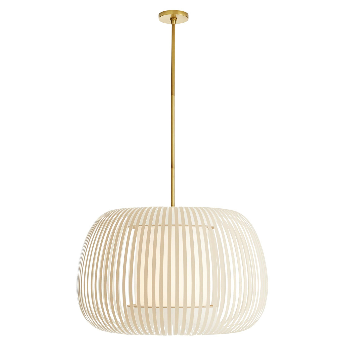 arteriors home mia pendant full view illuminated