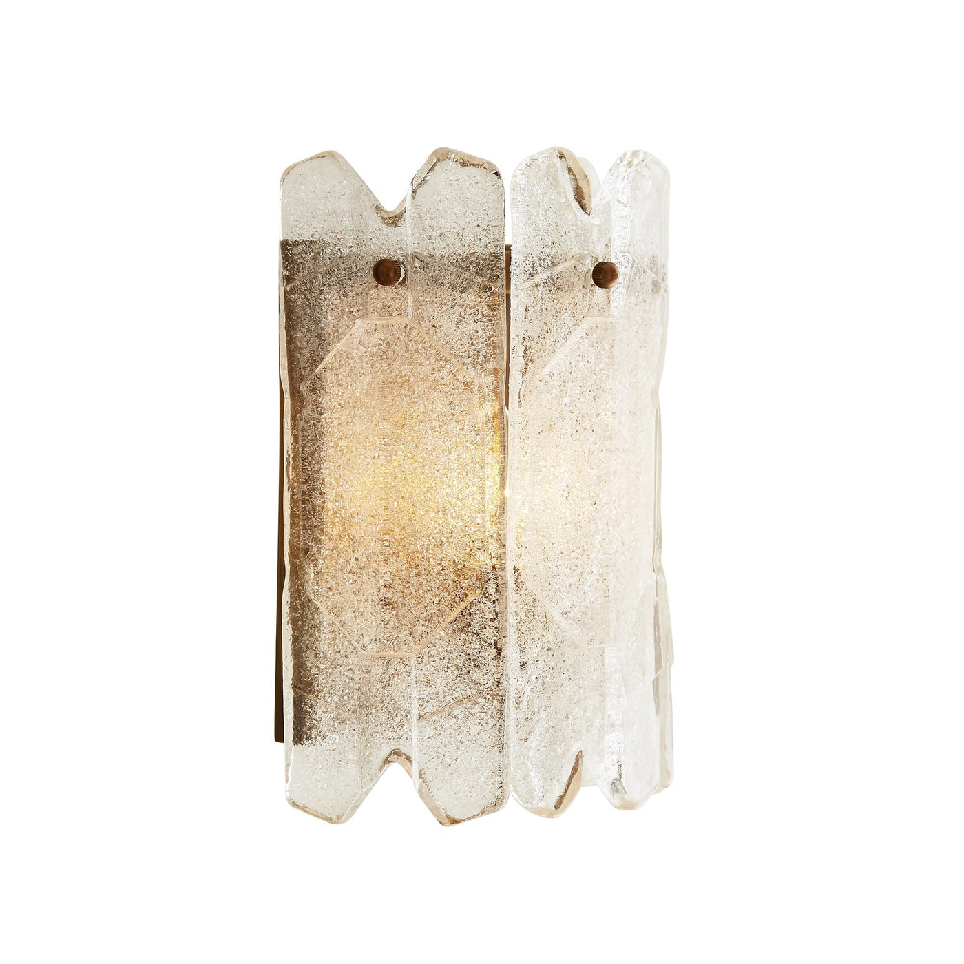 arteriors home muller sconce illuminated