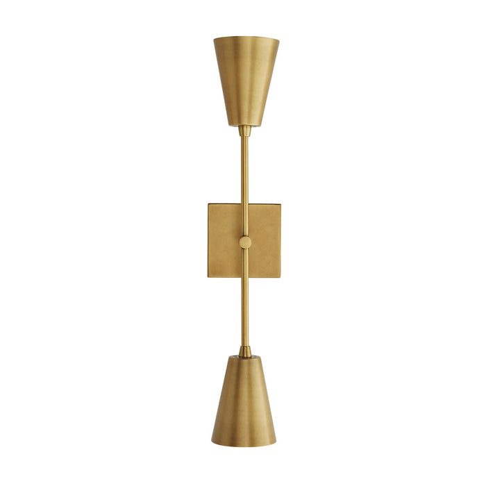 Arteriors Home Nadia Sconce Antique Brass Gold Steel Lighting