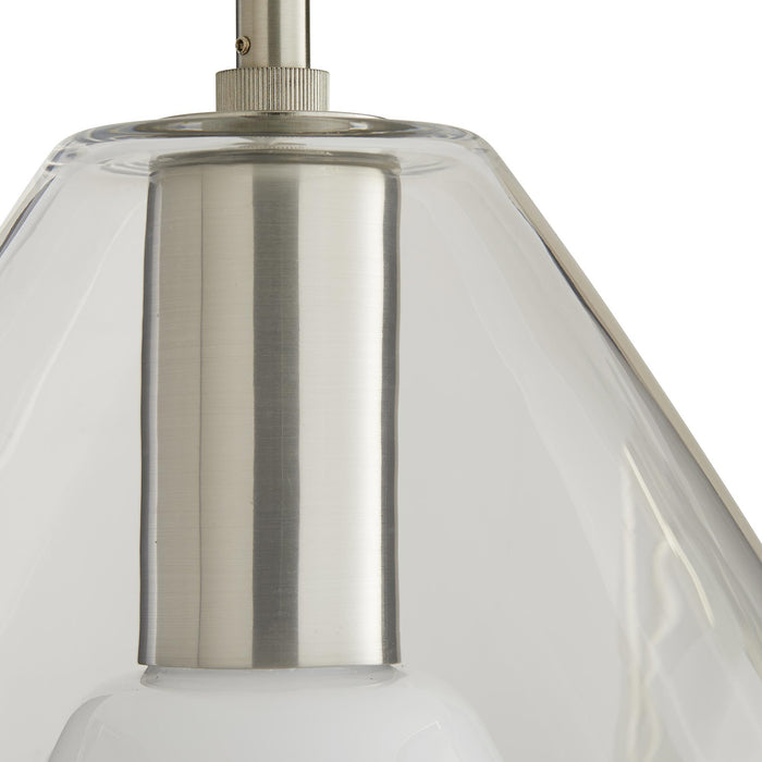 arteriors home nala pendant brushed nickel top