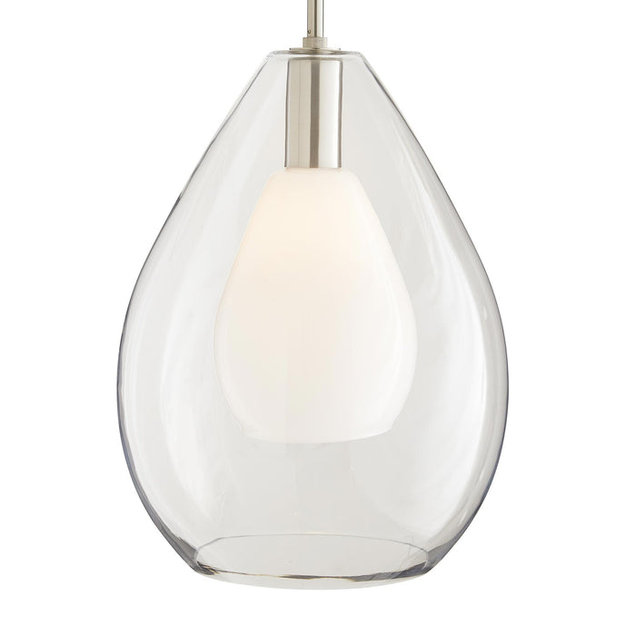arteriors home nala pendant brushed nickel illuminated