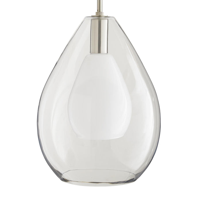 arteriors home nala pendant brushed nickel