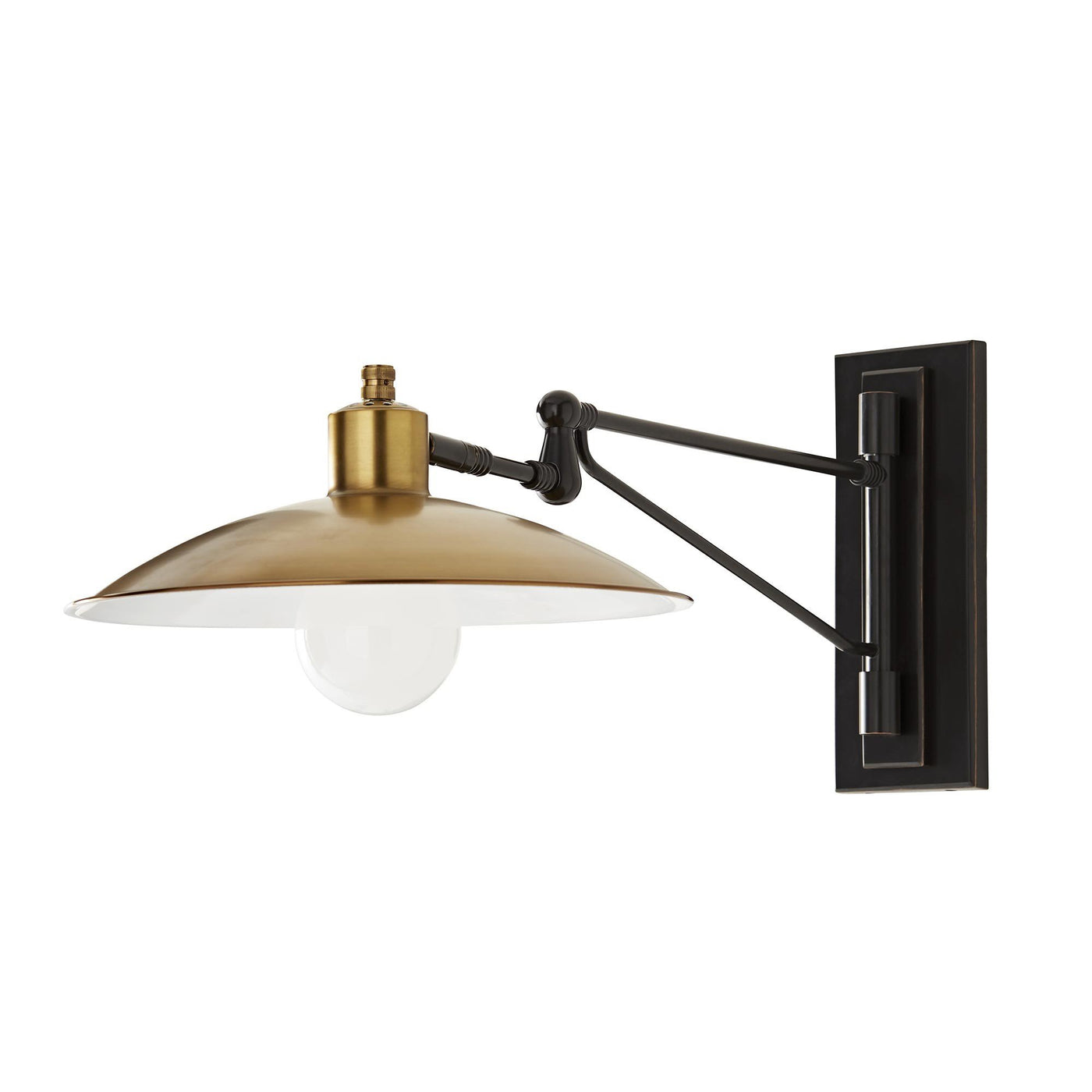 Arteriors Home Nox Sconce Steel Antique Brass Wall Hanging Light