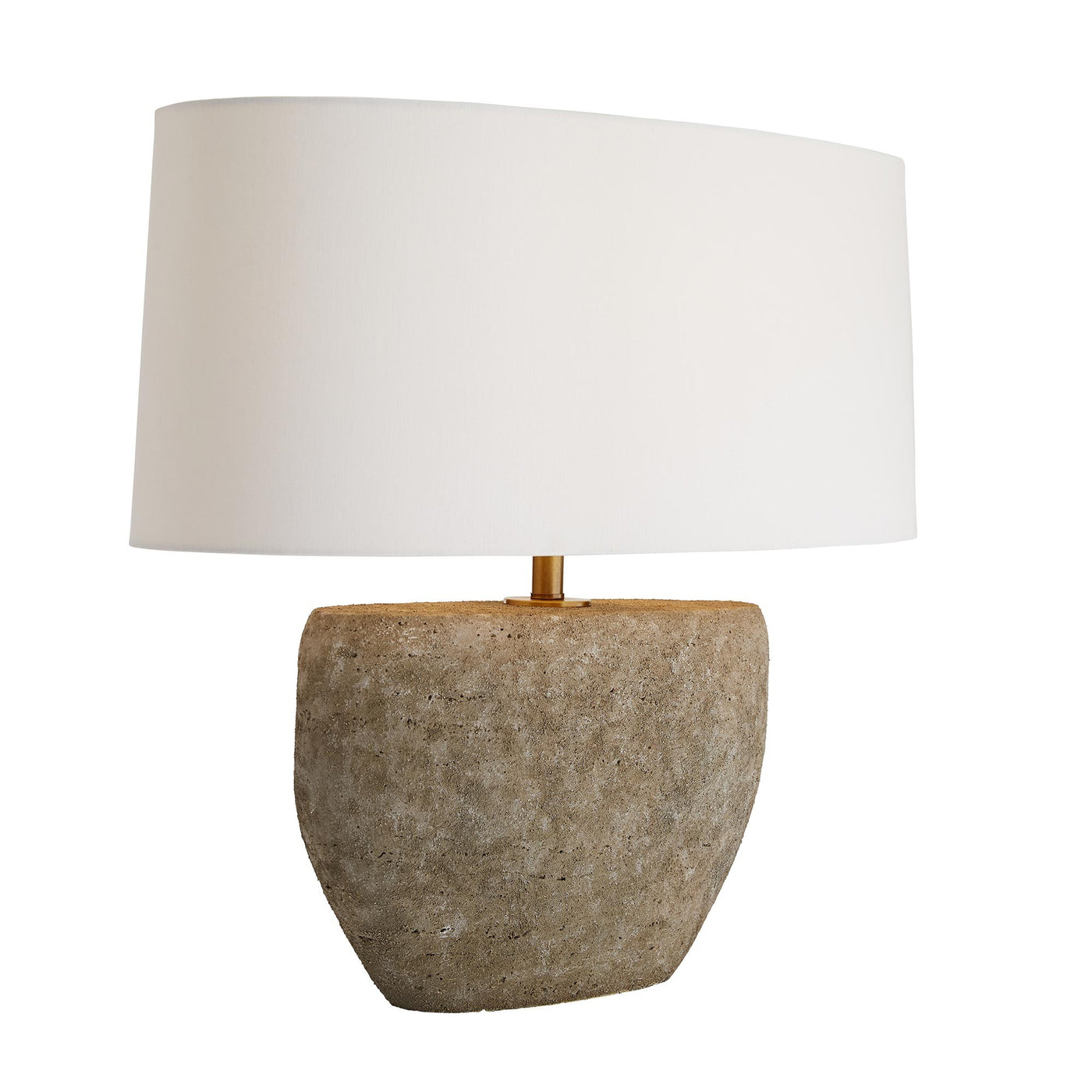 arteriors home odessa table lamp angle illuminated