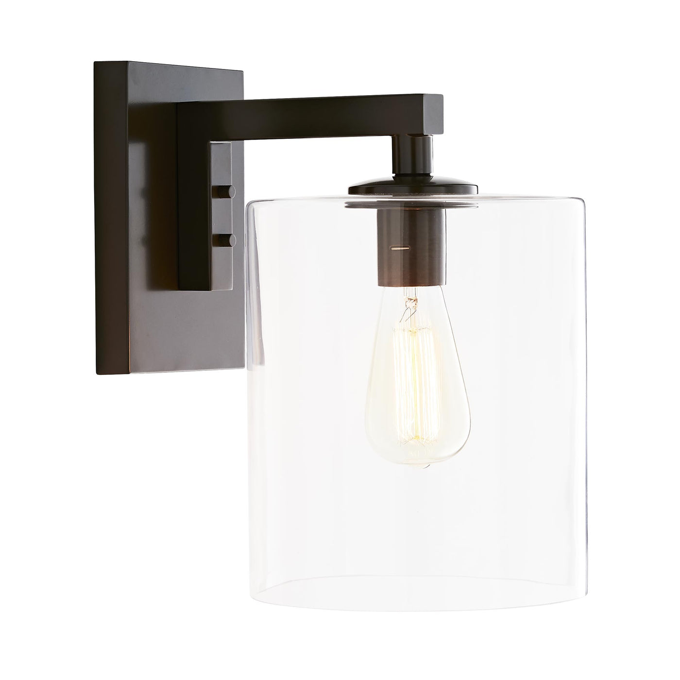 arteriors home parrish outdoor sconce aged iron side illuminated