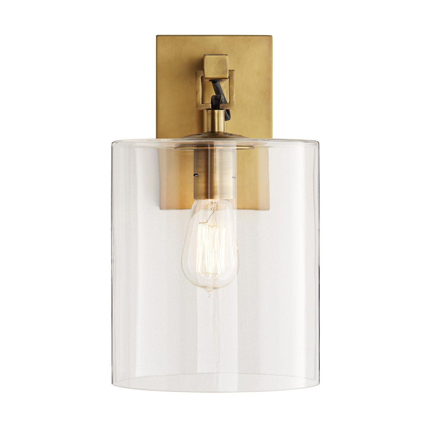 arteriors home parrish wall sconce antique brass illuminated