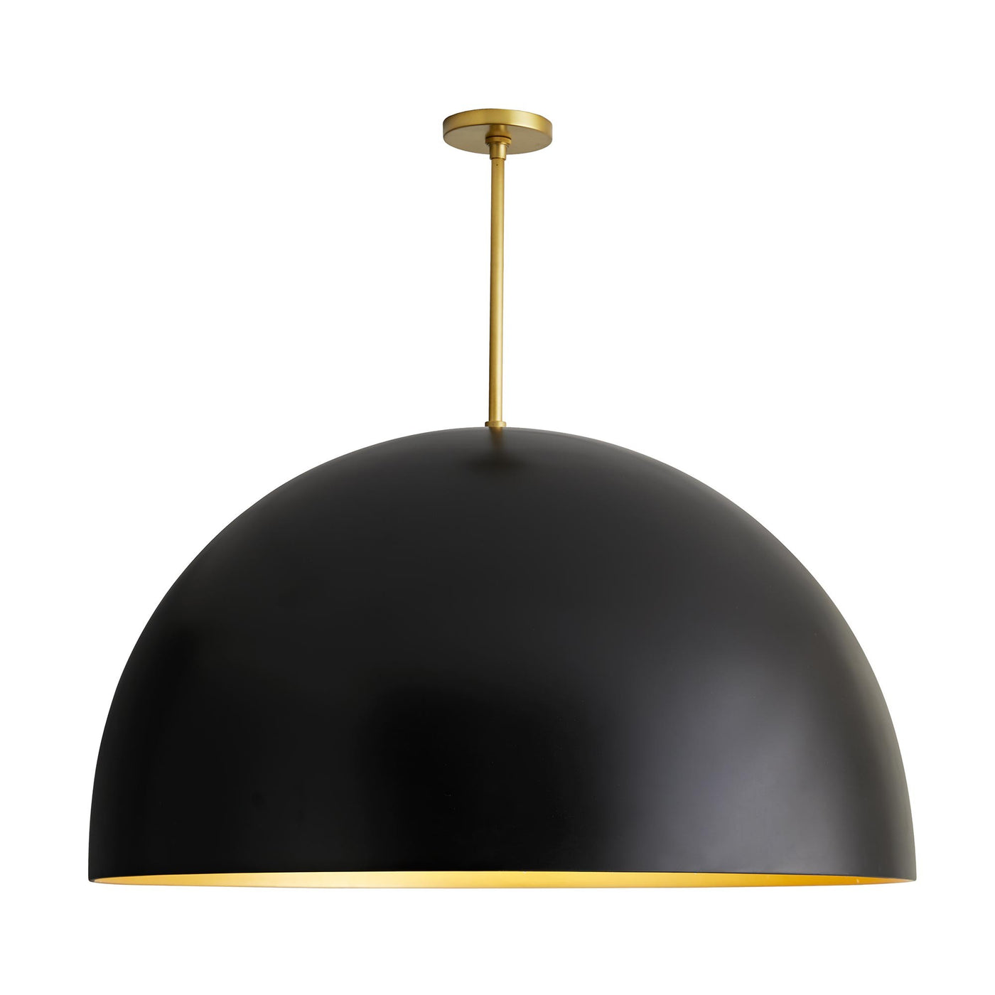 arteriors home pascal pendant black front illuminated