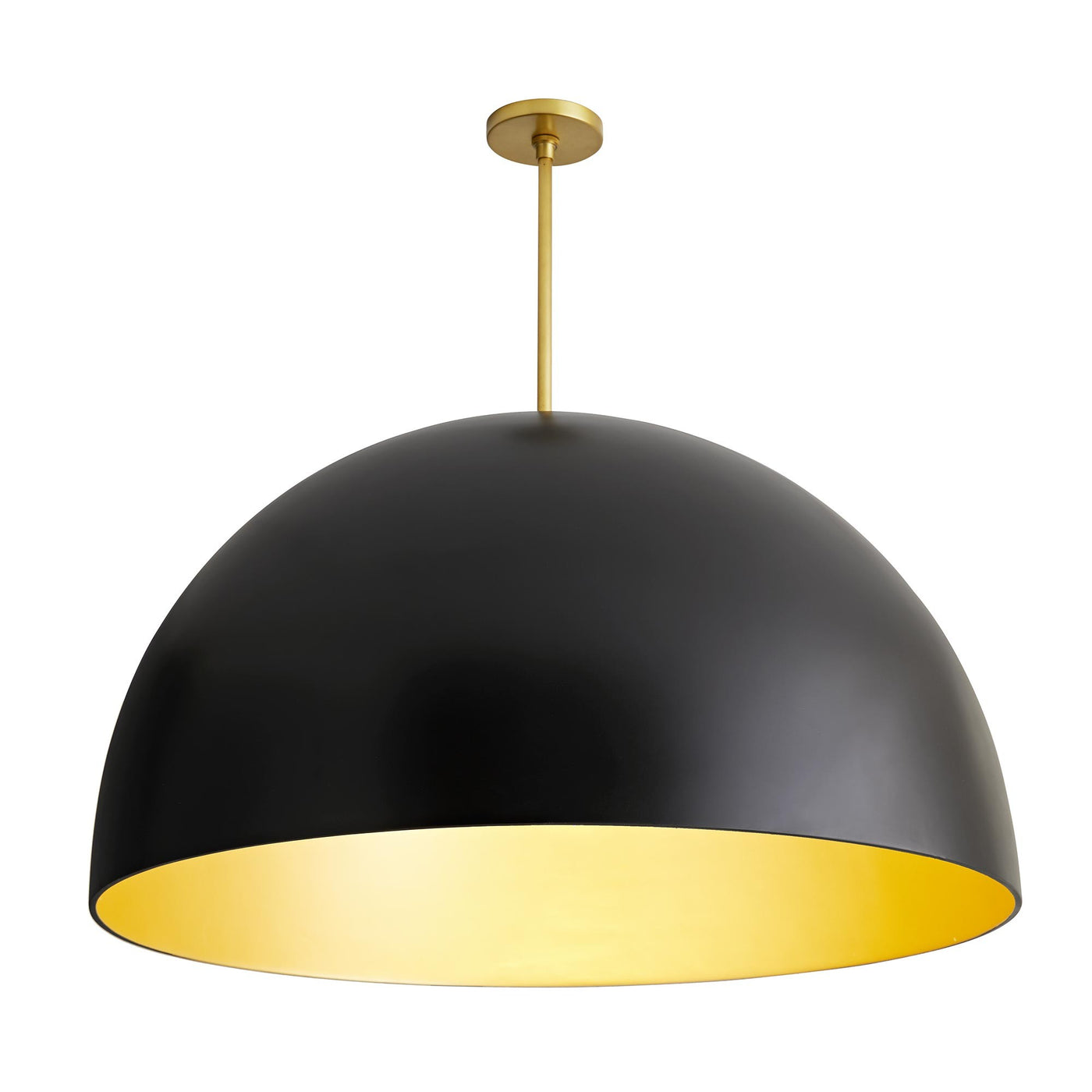 arteriors home pascal pendant black illuminated