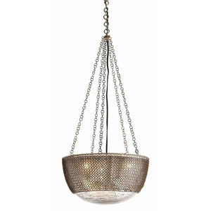 arteriors home pendants chain mail pendant distressed mercury finish DK-42043