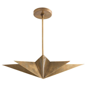 arteriors home rex pendant light 8 point star antique brass 4 lights 46821