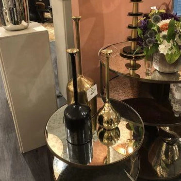 arteriors percy end table antique brass showroom
