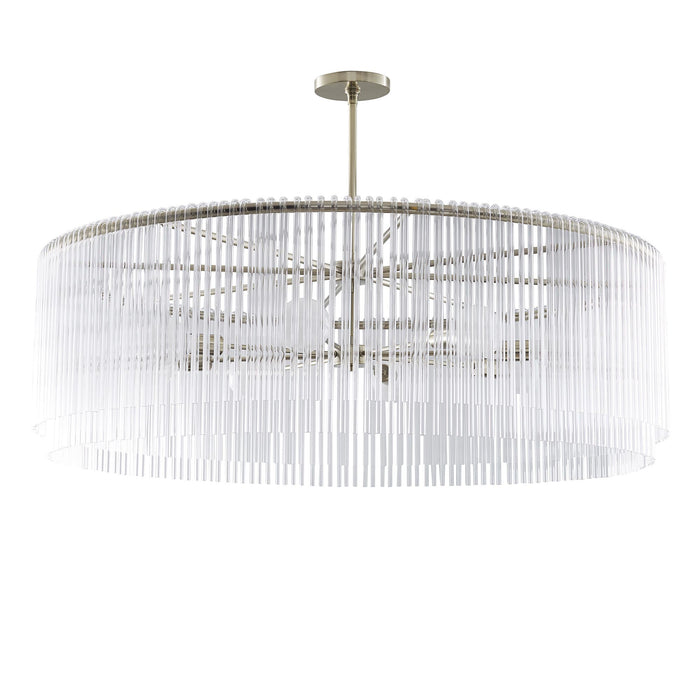 Arteriors Home Royalton Small Chandelier Silver Lighting Living Room