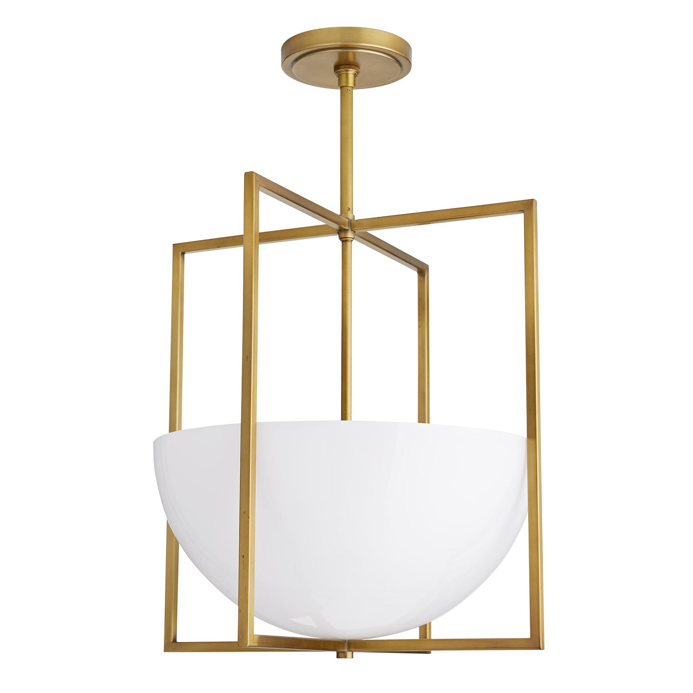 arteriors home royce pendant antique brass