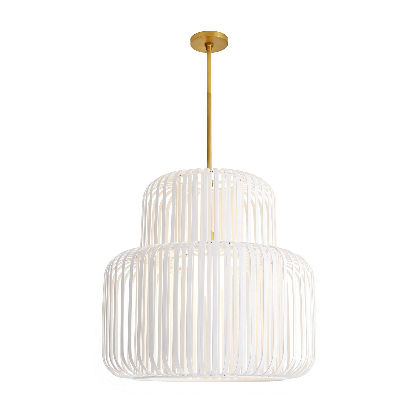 arteriors home shae pendant full view illuminated