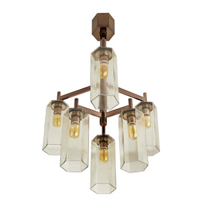 arteriors home soloman chandelier brown nickel bottom