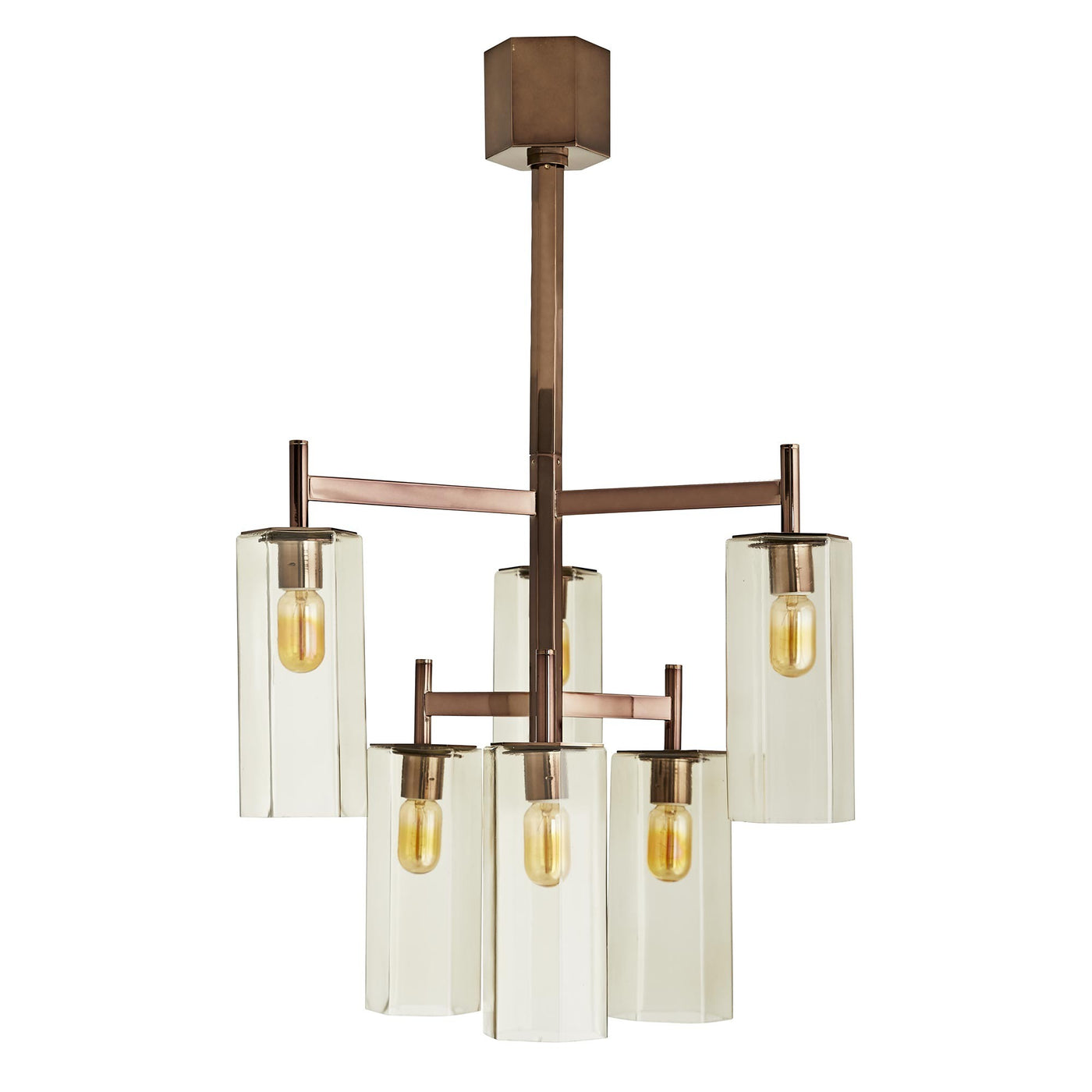 arteriors home soloman chandelier brown nickel