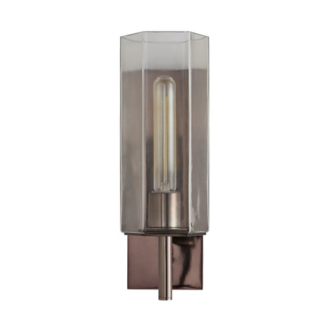 arteriors home solomon clear glass wall sconce full view