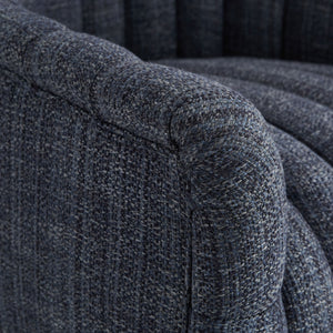arteriors home springsteen chair indigo tweed arm
