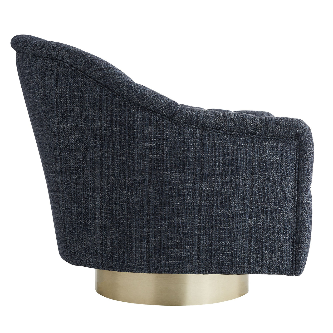 arteriors home springsteen chair indigo tweed side