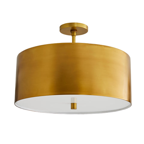 arteriors tarbell semi flush antique brass