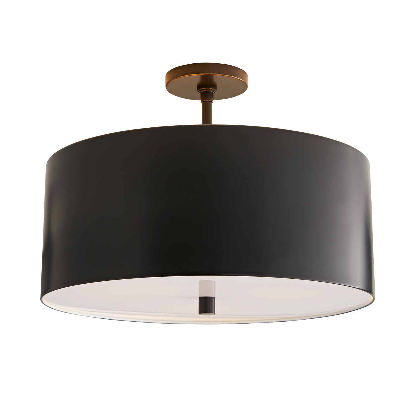 arteriors tarbell flush mount bronze illuminated