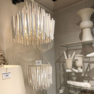 arteriors home tilda chandelier large and small