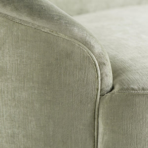 arteriors home turner small sofa mist velvet arm