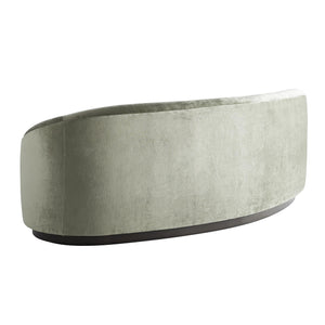 arteriors home turner small sofa mist velvet back