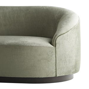 arteriors home turner small sofa mist velvet zoom in