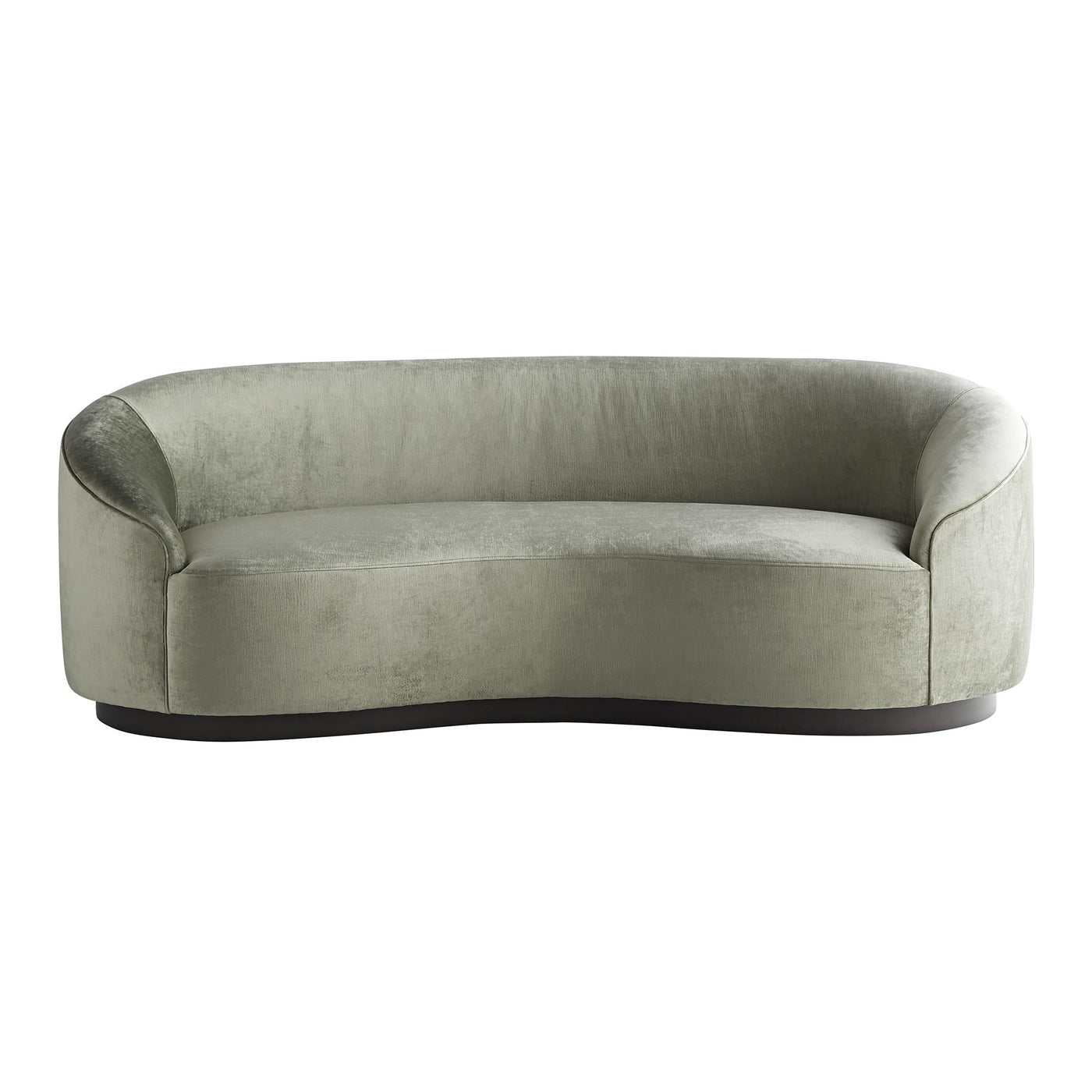 arteriors home turner small sofa mist velvet