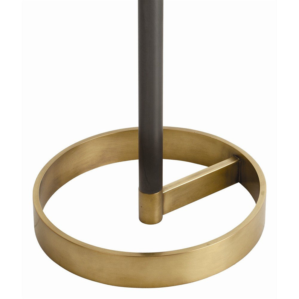 Arteriors light violetta floor lamp brass close up base 79862-661