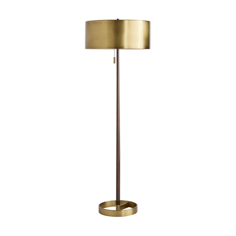arteriors home violetta floor lamp anique brass