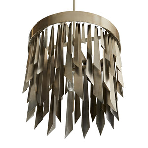 arteriors home waldorf round chandelier silver bottom