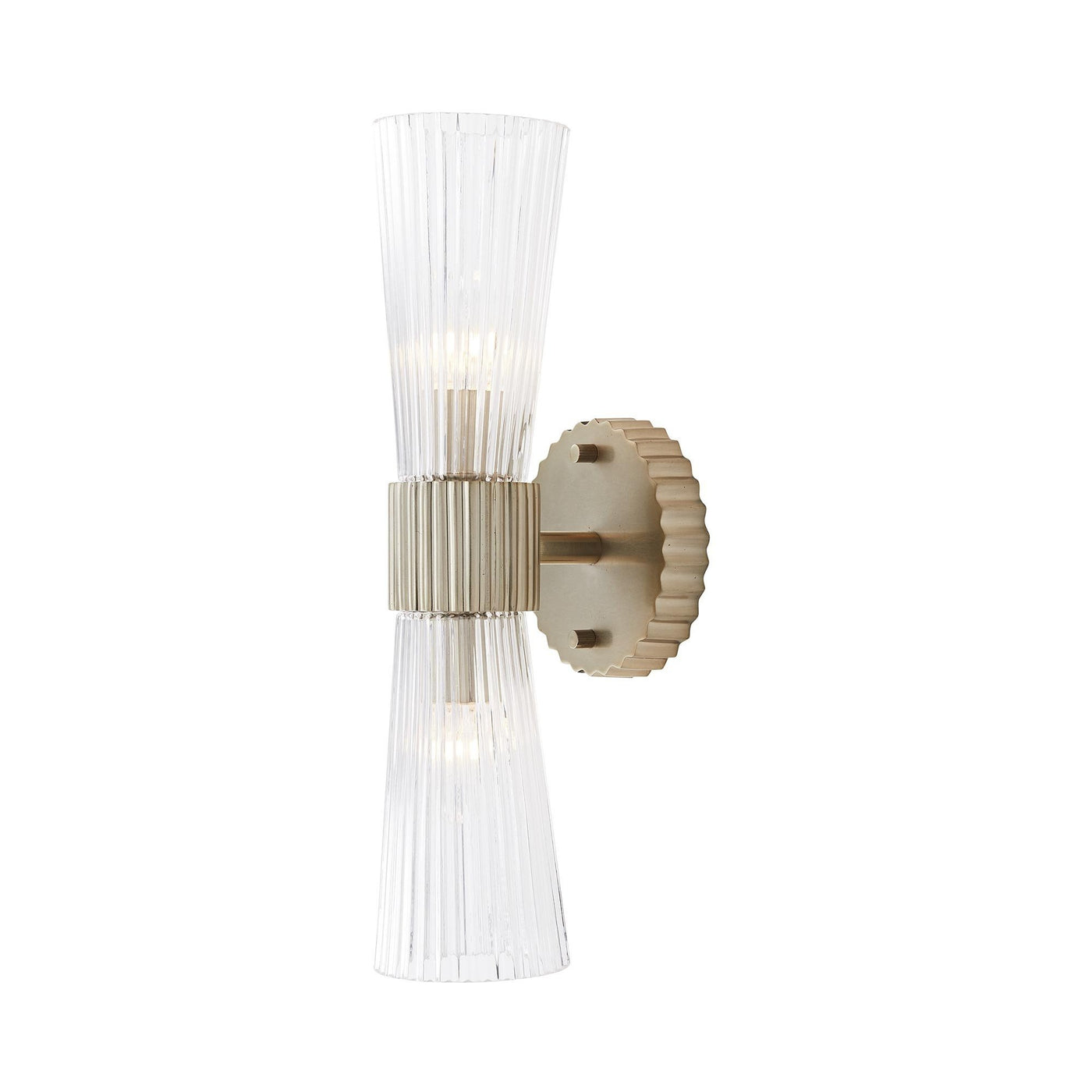 arteriors whittier sconce pale brass side illuminated