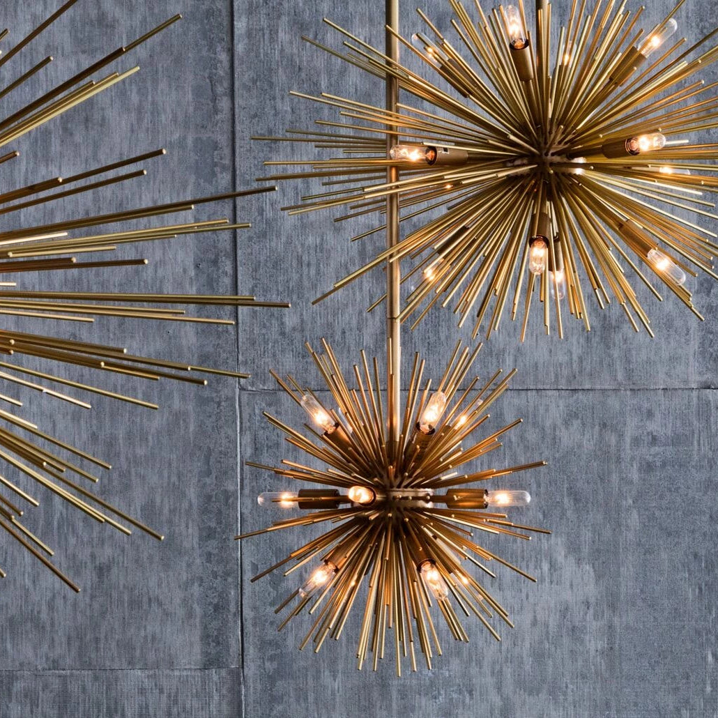 arteriors home zanadoo chandelier small brass