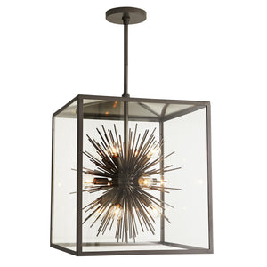 arteriors home zanadoo outdoor pendant aged iron illuminated