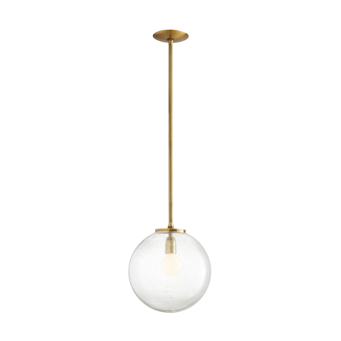 arteriors izzy pendant full view illuminated