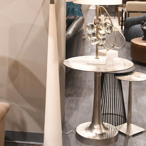 arteriors jaime end table round metal