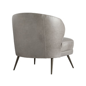 arteriors kitts chair mineral gray leather back
