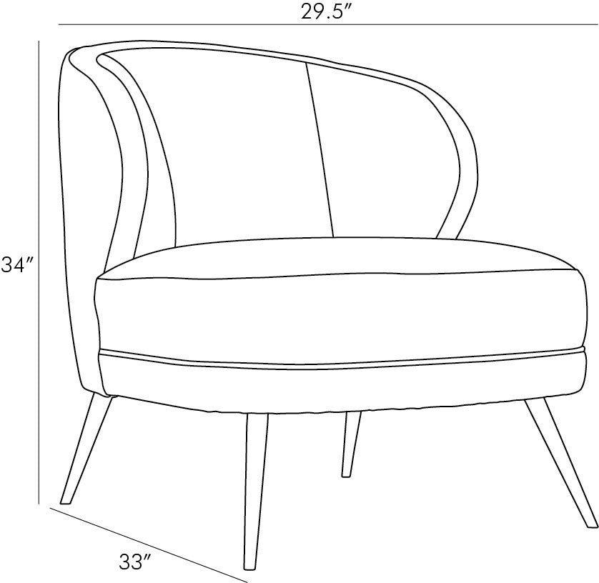 arteriors kitts chair mineral gray leather diagram